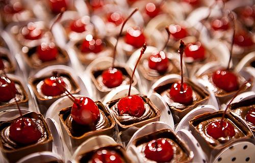 Copinho de Chocolate (Ganash) com Cereja